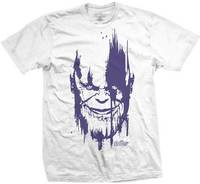 Avengers Infinity War Thanos Head Purp Mens White TS: Large