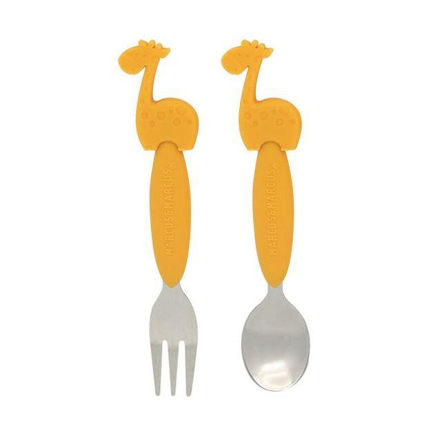 Marcus & Marcus: Spoon & Fork Set - Giraffe