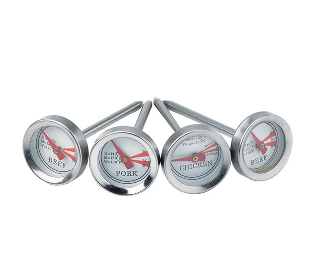Gasmate: BBQ 4 Piece Meat Thermometer Set