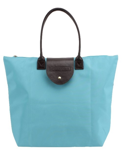 Willow & Rose Foldaway Shopping Tote (Blue) image