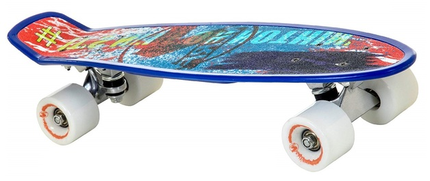 """Flybar: Nerf Grip Tape Cruiser - 22"""" Skateboard (Blue Paint)"""