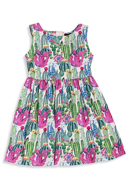 Retrolicious: Cactus Kids Dress - 6-7