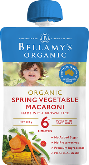 Bellamy's Organic: Spring Vegetable Macaroni (120gm)