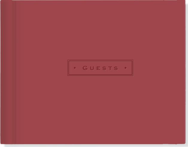 Artisan Guest Book (Burgundy) by Peter Pauper Press