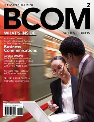 Bcom Plus (with Review Cards and WWW.Bcom4me.com Printed Access Card) by Carol M Lehman