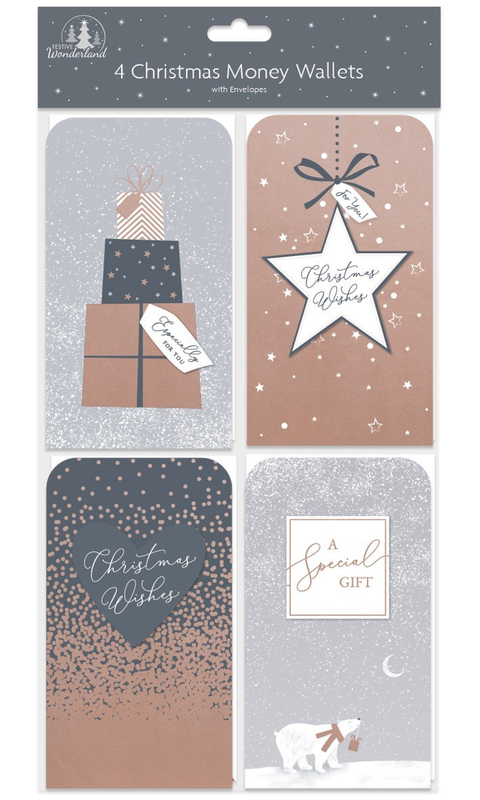 Christmas Money Wallets (Pack of 4)