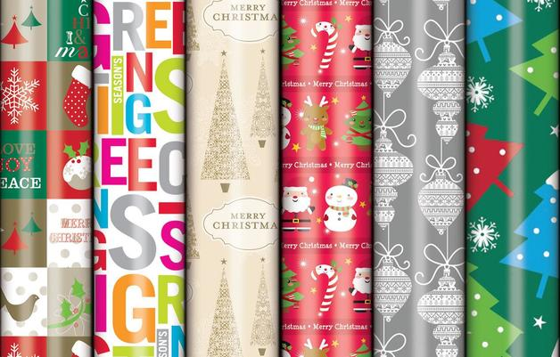 Christmas Wrap Value Roll - Gloss (3M x 700mm)