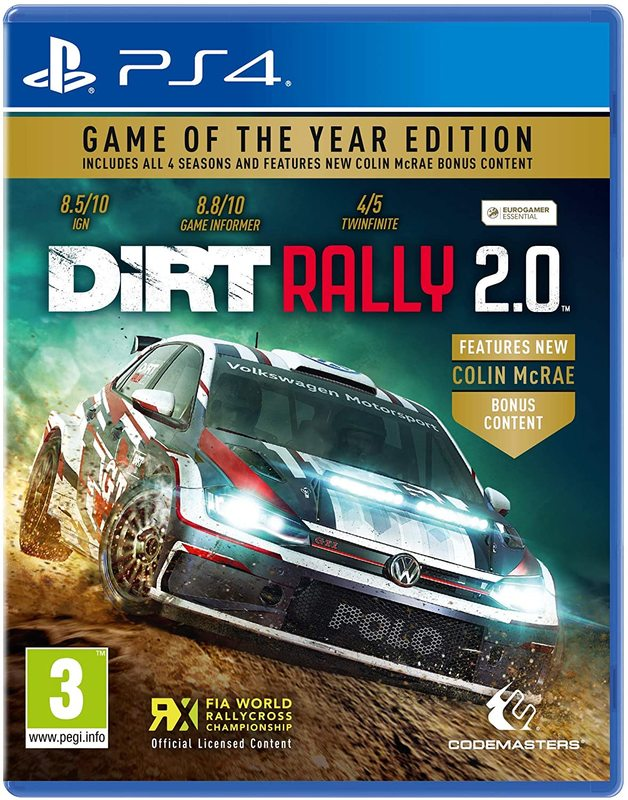 DiRT Rally 2.0 Game of the Year for PS4