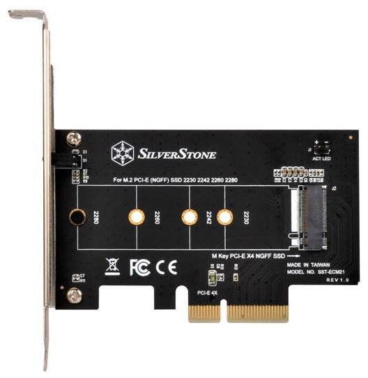 SilverStone ECM21 M.2 to PCIEx4 Adapter Card