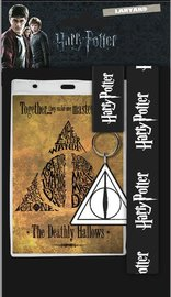 Harry Potter: Lanyard with Rubber Keychain - Deathly Hallows