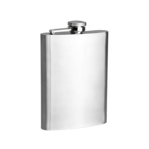 Hip Flask Plain Satin (8 Oz/236 ml)
