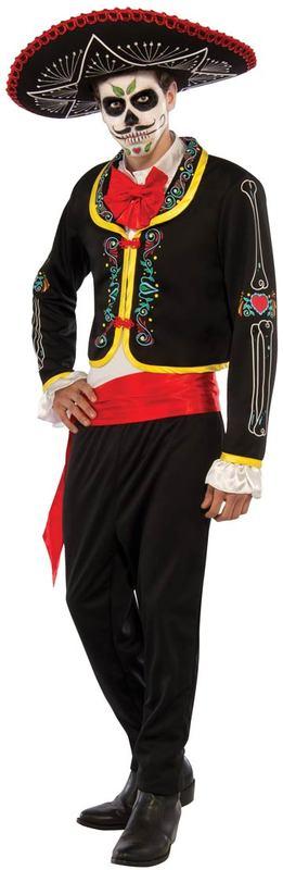 Day of the Dead Senor Costume (Size Standard)