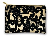Lady Jayne Glam Cosmetic Bag - Dog Silhouettes