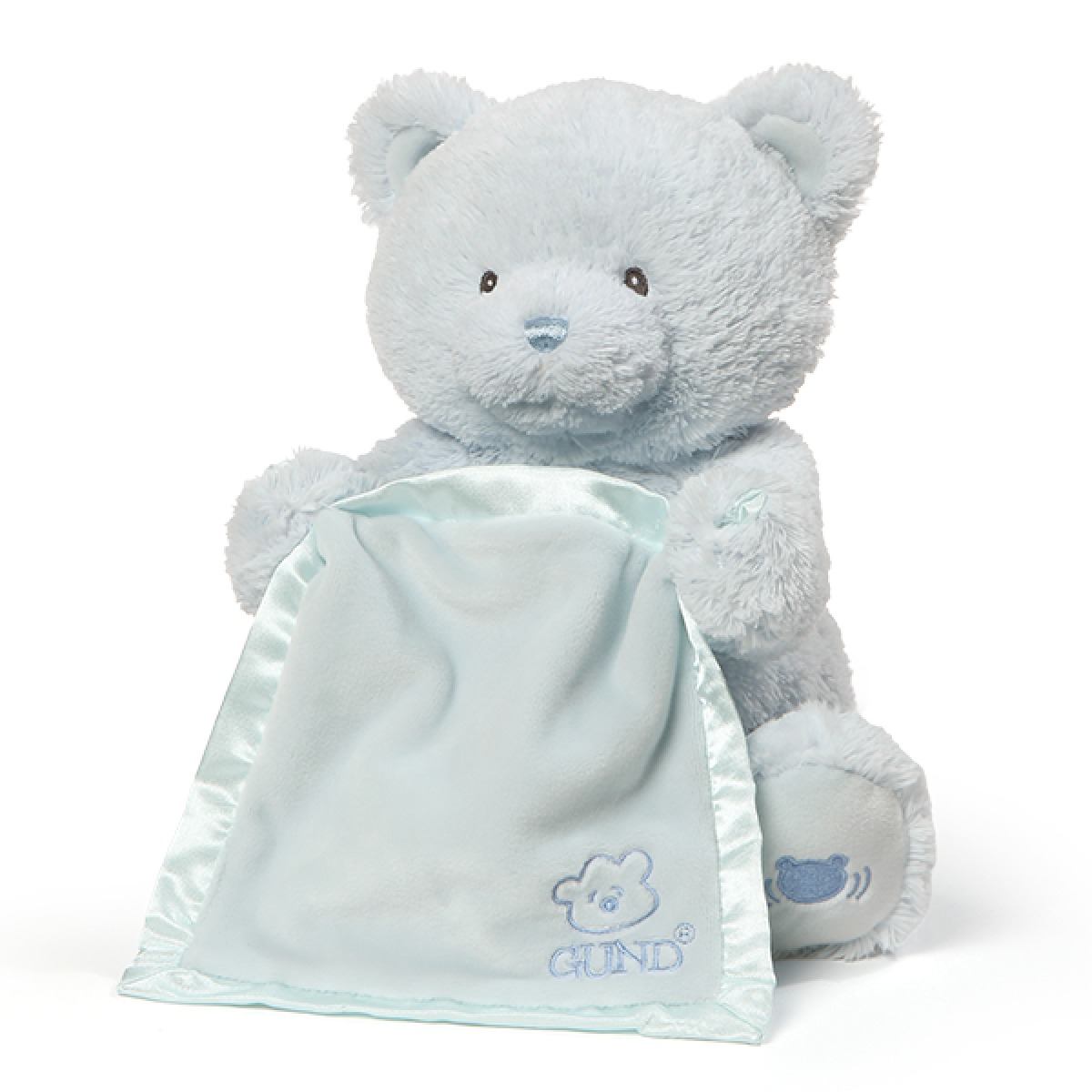 Gund: My First Teddy - Peek A Boo Plush (Blue) image