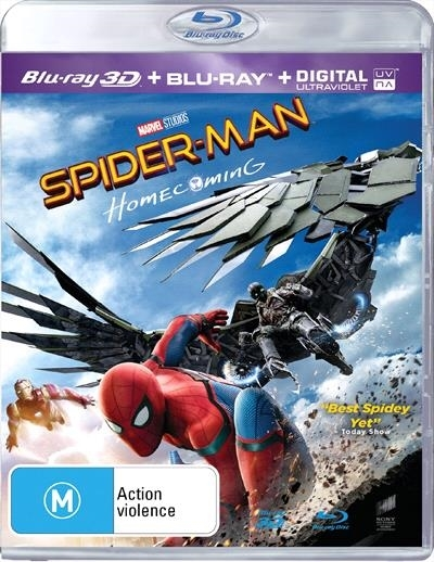 Spider-Man: Homecoming on Blu-ray, 3D Blu-ray, UV image