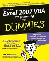 Excel 2007 VBA Programming For Dummies by John Walkenbach