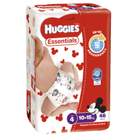 Huggies Essentials Nappies Bulk - Size 4 Toddler (46) image