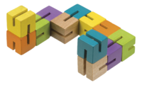Toysmith: Neato - Wood Fidget Puzzle (Assorted Colour)