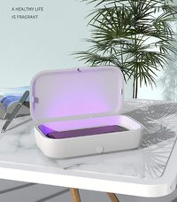 UV Portable Disinfection Box Mobile Phone Wireless Charger - White