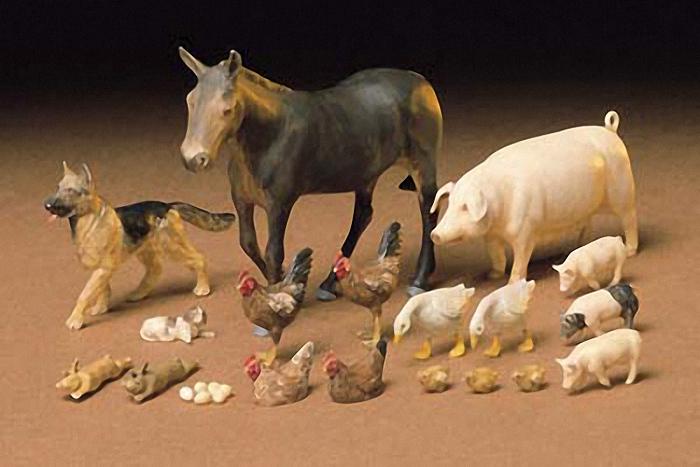 Tamiya 1/35 Livestock Diorama Model Set image