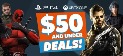 $50 and under GAME DEALS!