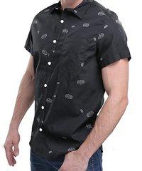 Batman Logo Pattern Woven Shirt (M)