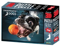 Super 3D: 500-Piece Jigsaw Puzzle - Underwater Dogs Rocco