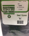 Evergreen Styrene Sheet Black 20X52cm X.25 mm (1)