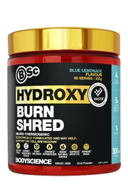 BSc Bodyscience HydroxyBurn SHRED Neuro Thermogenic - Blue Lemonade