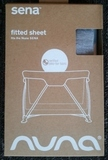 Nuna Sena Travel Cot Fitted Sheets Accessory - White