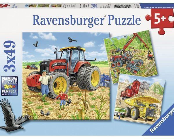 Ravensburger: Giant Vehicles - 3x49pc Puzzle