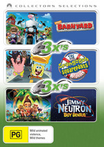 Barnyard / SpongeBob SquarePants Movie / Jimmy Neutron Boy Genius - 3x's: Collectors Selections (3 Disc Set) on DVD
