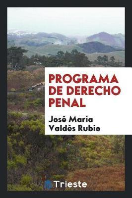 Programa de Derecho Penal by Jose Maria Valdes Rubio image