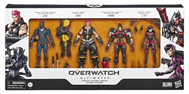 "Overwatch: Ultimates Series 6"" 4-Pack - Carbon Series"