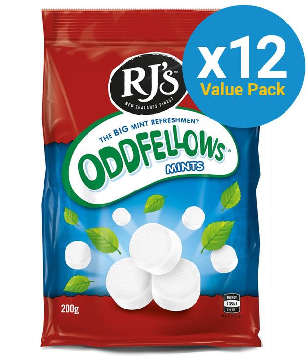RJ's Oddfellows 200g (24 Pack)