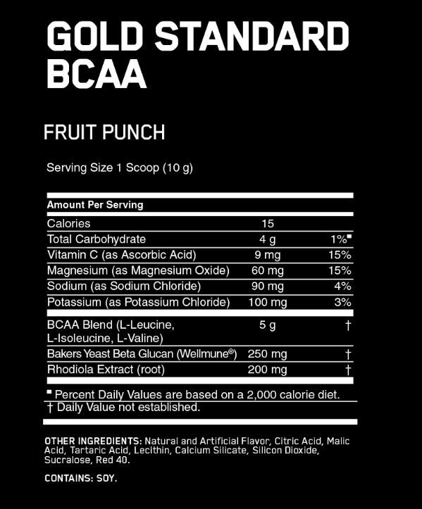 Optimum Nutrition Gold Standard BCAA Train + Recover - Fruit Punch (280g) image