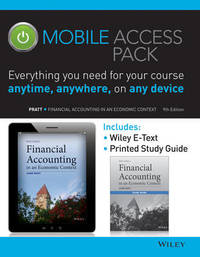 Financial Accounting in an Economic Context 9e Mobile Access Pack by Jamie Pratt image