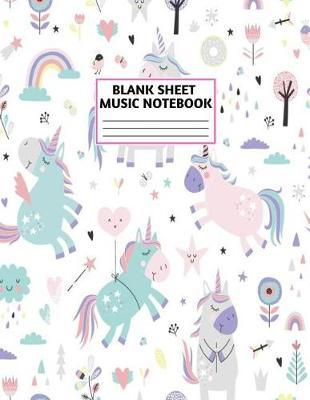 Blank Sheet Music Notebook by Izabella Ruiz Music