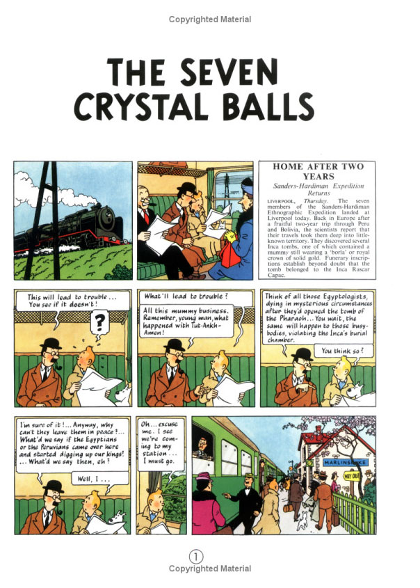 The Seven Crystal Balls (The Adventures of Tintin #13) by Herge image