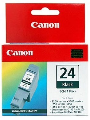 Canon Ink BCI-24BK Black Cartridge (130 Pages)