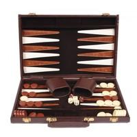 "Backgammon 15"" Alligator Skin Case - Brown image"