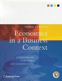Economics in a Business Context by Sukhdev Johal image