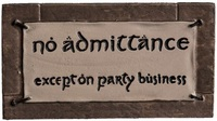 Lord of the Rings No Admittance Magnet