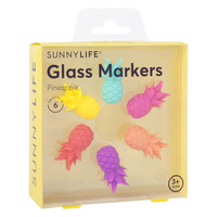 Sunnylife: Glass Markers - Pineapple (Set of 6)
