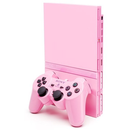 Slimline PS2 Console Pink bundle for PlayStation 2 image