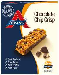 Atkins Day Break Bar - Chocolate Chip Crisp (5 x 30g)