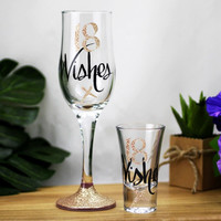 Wishes: 18 Wishes Rose Gold Shot Glass image