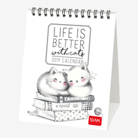 Sketchy Cats 2019 Desk Calendar