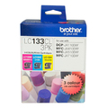 Brother LC-133CL3PK CMY Colour Ink Cartridges (Triple Pack)
