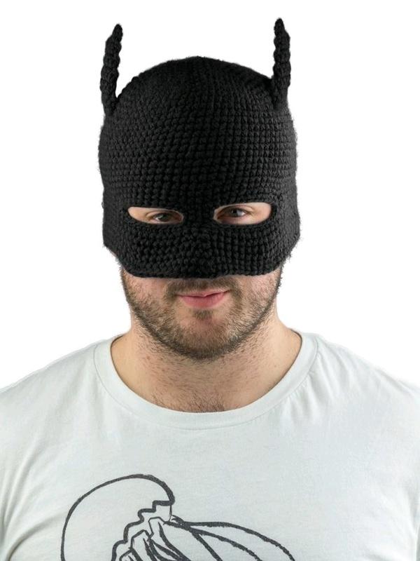 Batman Cowl Knit Beanie - Black